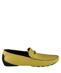 Men's yellow slip-on loafers