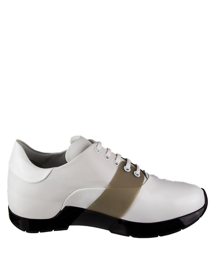 Men's white & brown lace-up sneakers Sale - Porsche Design