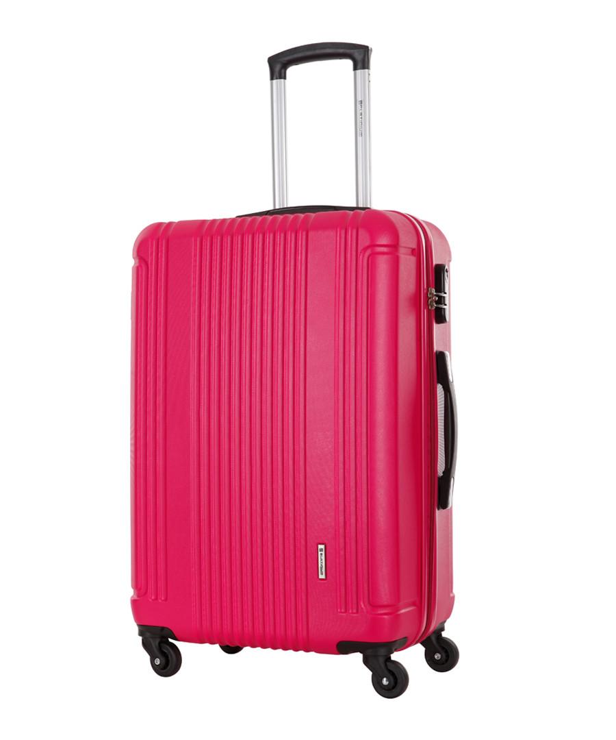 Antegria fuchsia spinner suitcase 60cm Sale - platinium