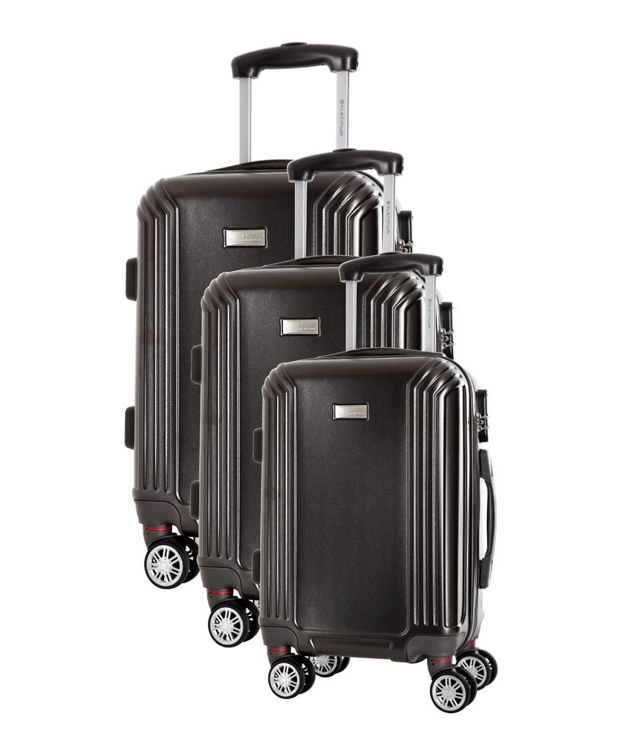 3pc Kirwee grey spinner suitcase nest Sale - platinium