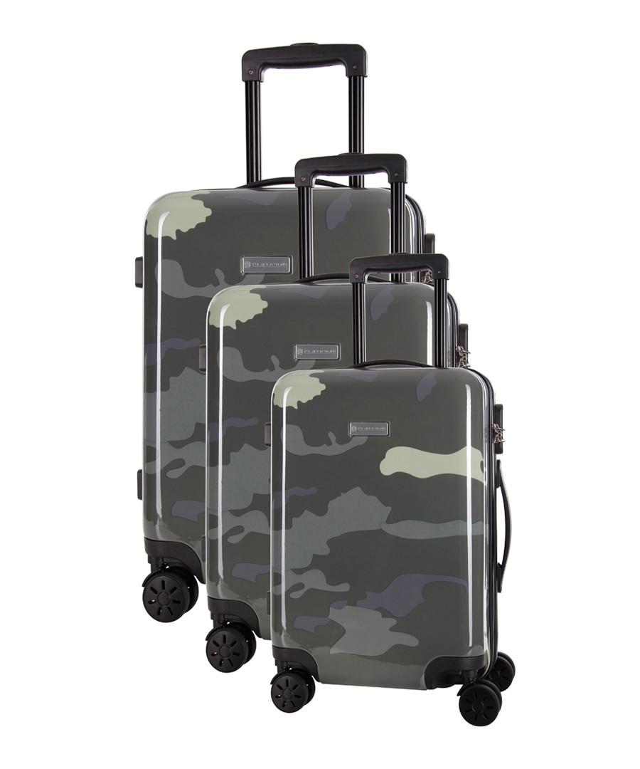 3pc Marshall white spinner suitcase nest Sale - platinium