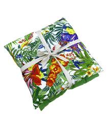 2pc Bird Of Paradise green cushions