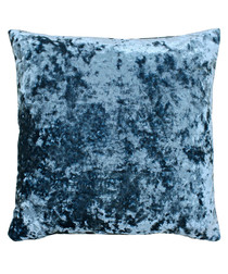 Roma cerulean velvet filled cushion