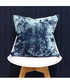 Roma cerulean velvet filled cushion Sale - riva paoletti Sale