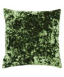Roma green velvet filled cushion