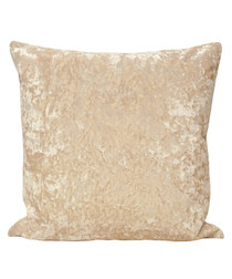 Roma ivory velvet filled cushion