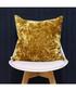 Roma ochre velvet filled cushion Sale - riva paoletti Sale