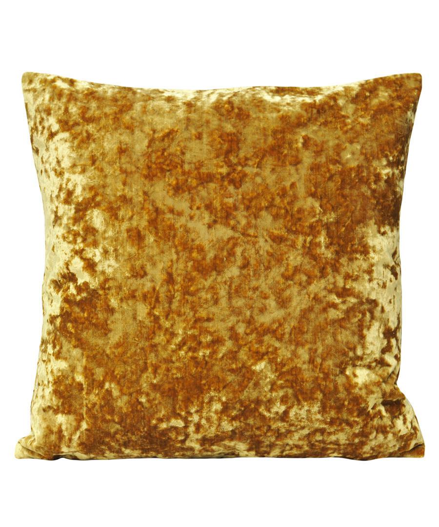 Roma ochre velvet filled cushion Sale - riva paoletti