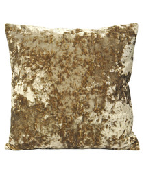 Roma oyster velvet filled cushion