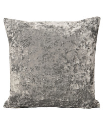 Roma silver velvet filled cushion