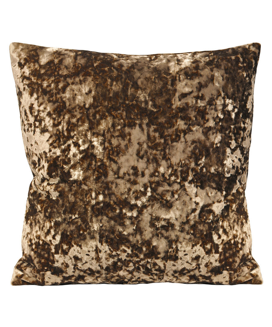Roma taupe velvet filled cushion Sale - riva paoletti