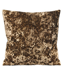 Roma taupe velvet filled cushion