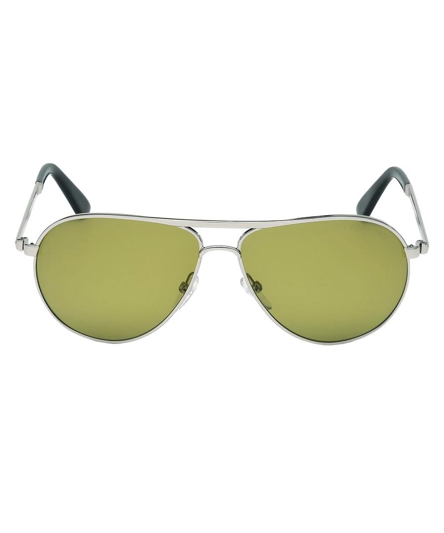 Marko silver-tone & green sunglasses Sale - tom ford