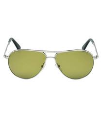 Marko silver-tone & green sunglasses