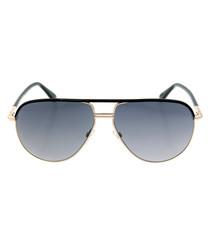 Cole gold-tone & black sunglasses