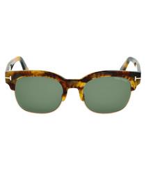Harry blonde Havana & green sunglasses