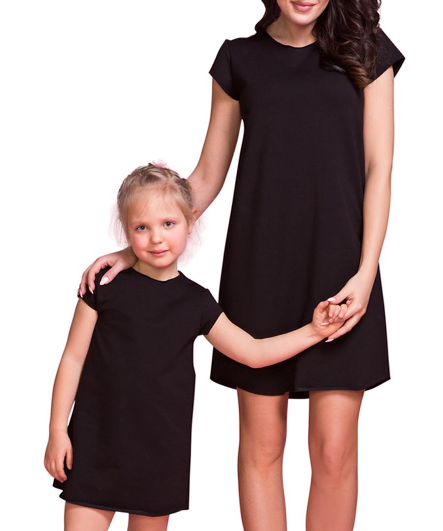 Women s black cotton blend T-shirt dress Sale - Tessita 531013b25