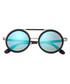 Bondi dark brown & blue round sunglasses Sale - earth wood Sale