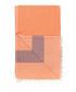 Orange & red pure cotton beach towel Sale - hamam Sale
