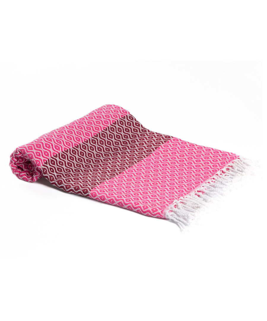 Pink & red pure cotton towel Sale - hamam