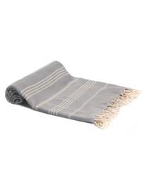 Blue pure Turkish cotton beach towel
