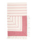 Red pure Turkish cotton beach towel Sale - hamam Sale
