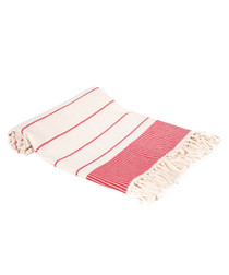 Red pure Turkish cotton beach towel