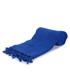 Neon blue pure cotton beach towel Sale - hamam Sale