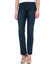 Marilyn blue cotton blend straight jeans