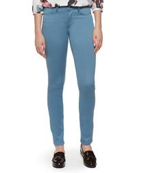 Alina blue cotton blend skinny jeans