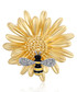 Working Bee gold-tone crystal brooch Sale - caromay Sale