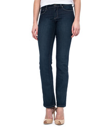 Marilyn indigo denim straight jeans