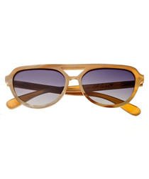 Brittany vanilla horn sunglasses