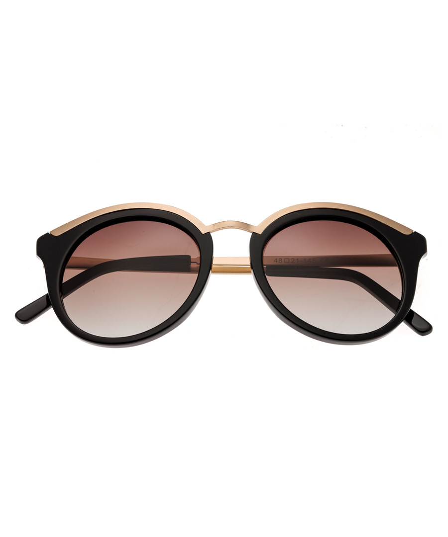 Caroline black & rose gold sunglasses Sale - bertha