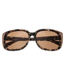 Natalia brown flecked sunglasses