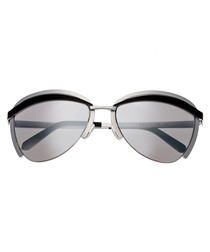 Aubree silver-tone rounded sunglasses