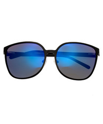 Ophelia black & blue lens sunglasses