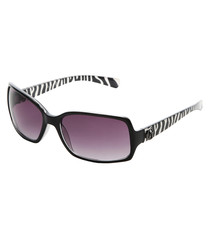 Black & white rectangle sunglasses