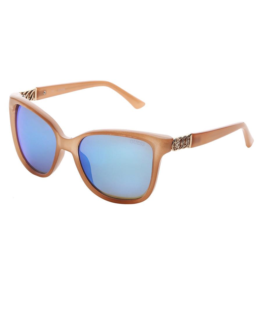 Brown & blue lens oversize sunglasses Sale - guess