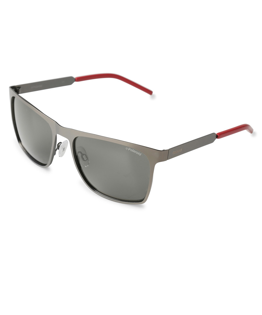 6f0de10085c Silver   red flat top sunglasses Sale - Polaroid