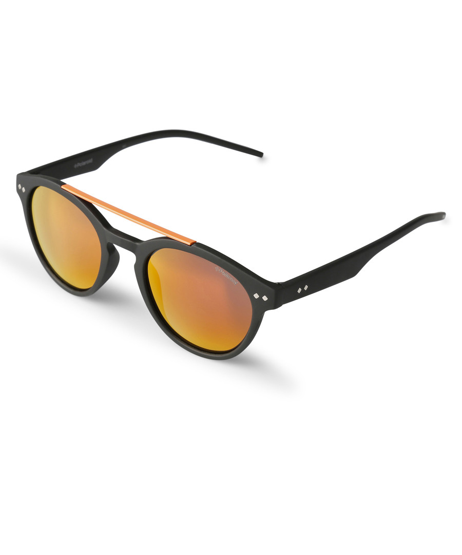 Black & orange rounded sunglasses Sale - polaroid