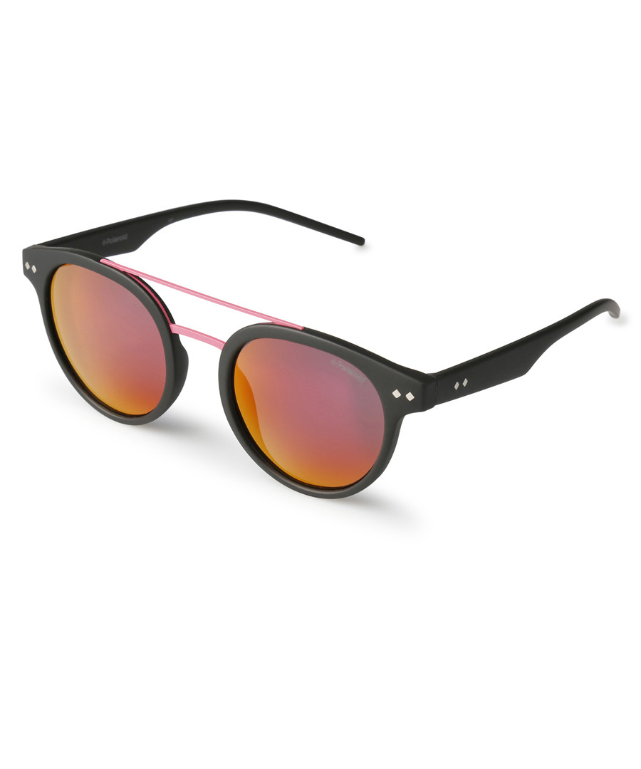 Black & pink rounded sunglasses Sale - polaroid