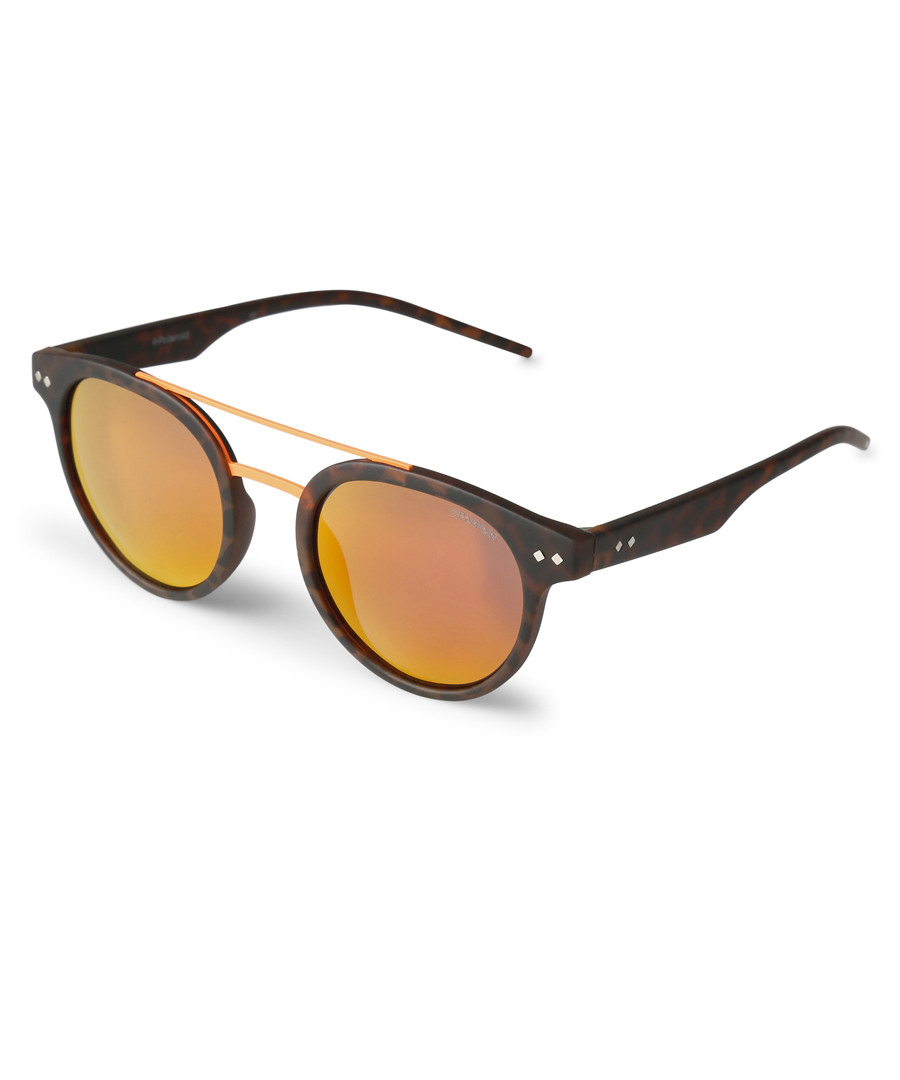 Tortoiseshell & gold rounded sunglasses Sale - polaroid