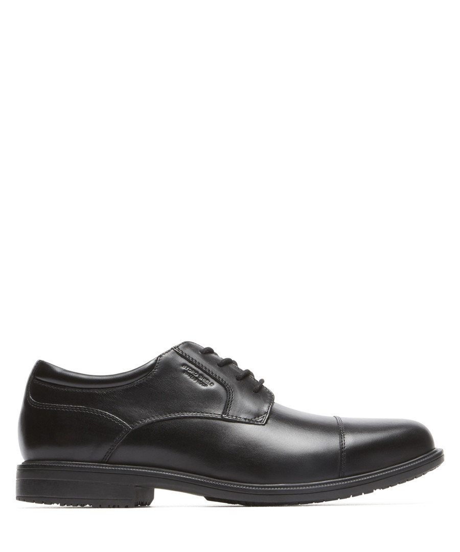 Bike black leather lace-up shoes Sale - rockport