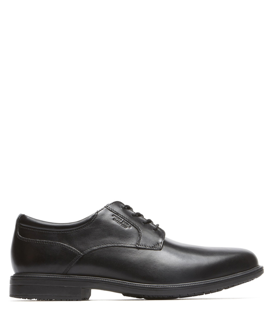 Black leather lace-up shoes Sale - rockport