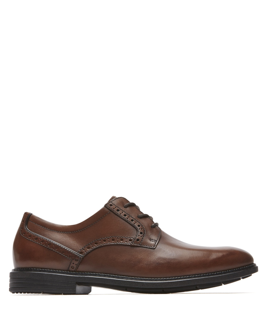 Madson tan leather lace-up shoes Sale - rockport