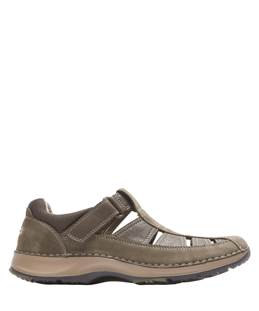 Fisherman taupe leather sandals Sale - rockport