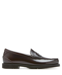 Shakespeare burgundy leather loafers