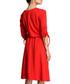 Red cotton blend V-neck dress Sale - bewear Sale