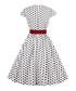White & black cotton spotty dress Sale - Mixinni Sale